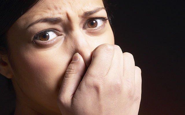 Если чувствуется запах крови из носа